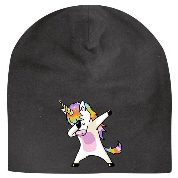 Svart Mössa Unicorn Dab