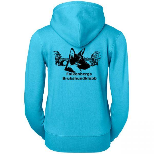 Falkenbergs Brukshundklubb Ljusblå Hoodjacka