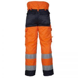 Orange/Marinblå Vinterbyxa Varsel Top Swede Baksida