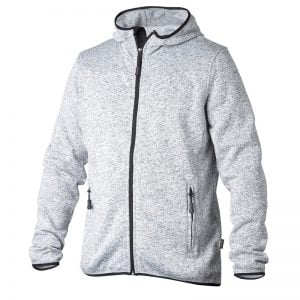 Gråmelerad Hoodjacka Fleece Top Swede