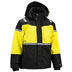 Gul/Svart Vinterjacka Varsel Blåkläder