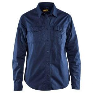 Marinblå Twillskjorta Blåkläder
