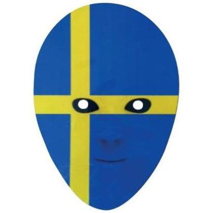Blå/Gul Sverigemask Papp