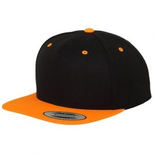 Svart/Orange Keps Klassisk Snapback