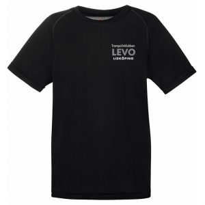 Trampolinklubben Levo Svart Funktions T-shirt