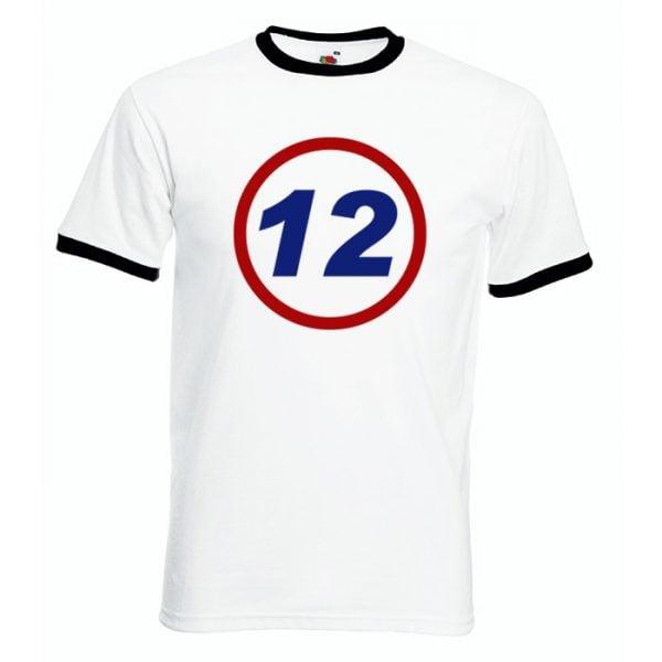 Vit/Svart 12 Rätt är 0 respekt T-shirt