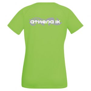 Athena IK Grön Dam Funktions T-Shirt 2017 Baksida