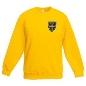 Gul Sweatshirt Sverigesköld Tygmärke