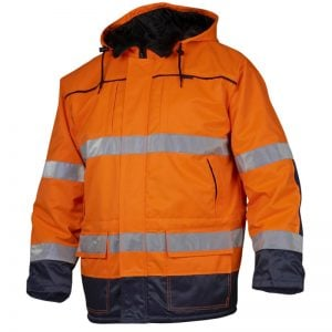 Orange/Marinblå Varseljacka Parkas Top Swede