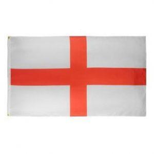 Vit/Röd Flagga England 90x150cm