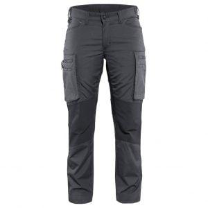 Mörkgrå/Svart Servicebyxa Stretch Blåkläder