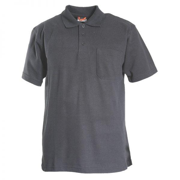 Grå Piké med Bröstficka Tranemo Workwear