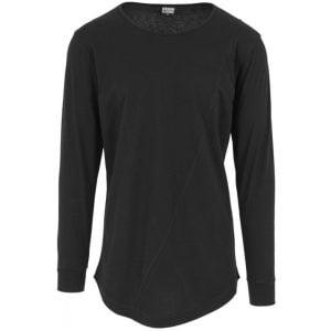 Svart Långärmad T-shirt Lång Modell UC