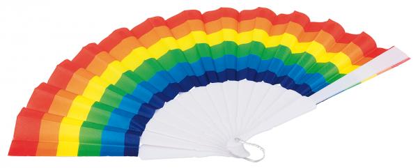 Regnbågsfläkt Solfjäder Regnbåge Pride