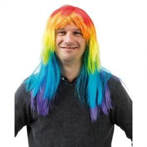 Regnbågsperuk Peruk Regnbåge Pride