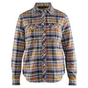 Orange/Marinblå Flanellskjorta Blåkläder