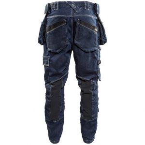 Marinblå/Svart Hantverksbyxa Stretch X1900 Blåkläder Baksida