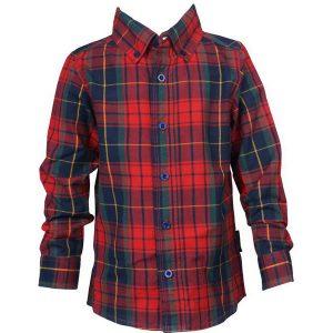 Röd/Marinblå Rutig Skjorta
