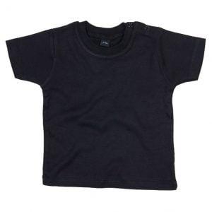 Svart T-shirt med Axelknäppning