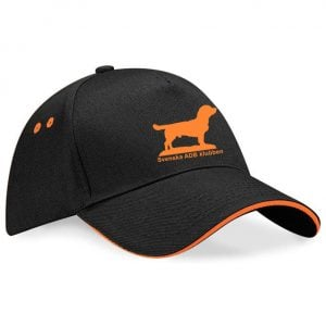 Svenska ADB Klubben Svart/Orange Keps Kontrast 5 Panel Orange Tryck