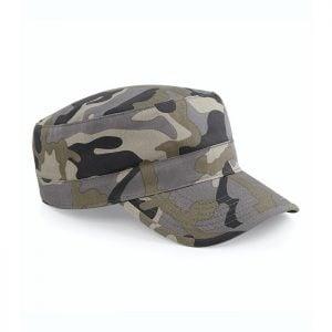 Grå/Brun Camo Militärkeps