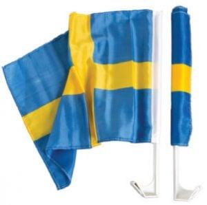 Blå/Gul Sverige Bilflagga