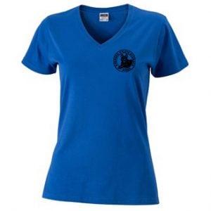 Svenska Kelpieklubben Mörkblå T-shirt V-hals