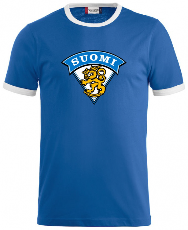 Blå/Vit T-shirt Finland
