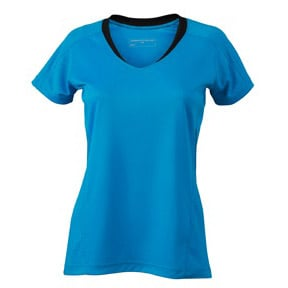 Blå/Svart Löpar T-shirt