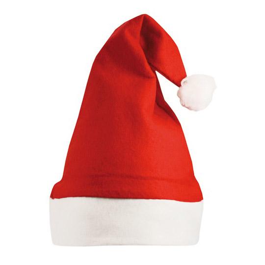Röd/Vit Jul Tomteluva med Tofs