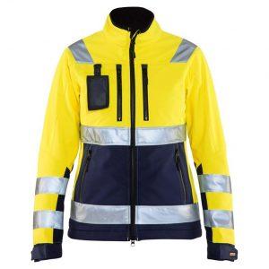 Gul/Marinblå Varseljacka Softshell Blåkläder
