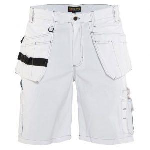 Vita Målarshorts med Hängfickor Blåkläder