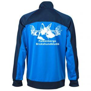 Falkenbergs Brukshundklubb Turkos/Marinblå Träningsoverall WCT Retro Baksida