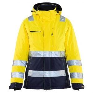 Gul/Marinblå Varseljacka Vinter med Huva Blåkläder