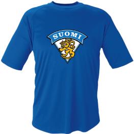 Blå Funktions T-shirt Finland