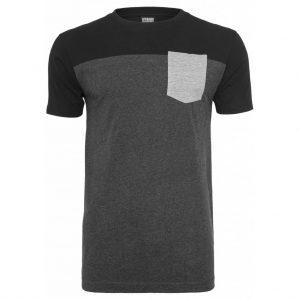 Mörkgrå/Svart T-shirt med Bröstficka UC