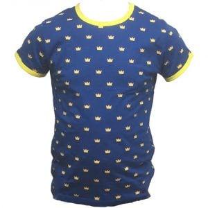 Blå/Gul Små Kronor Sverige T-shirt