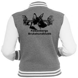 Falkenbergs Brukshundklubb Grå/Vit Collegejacka UC