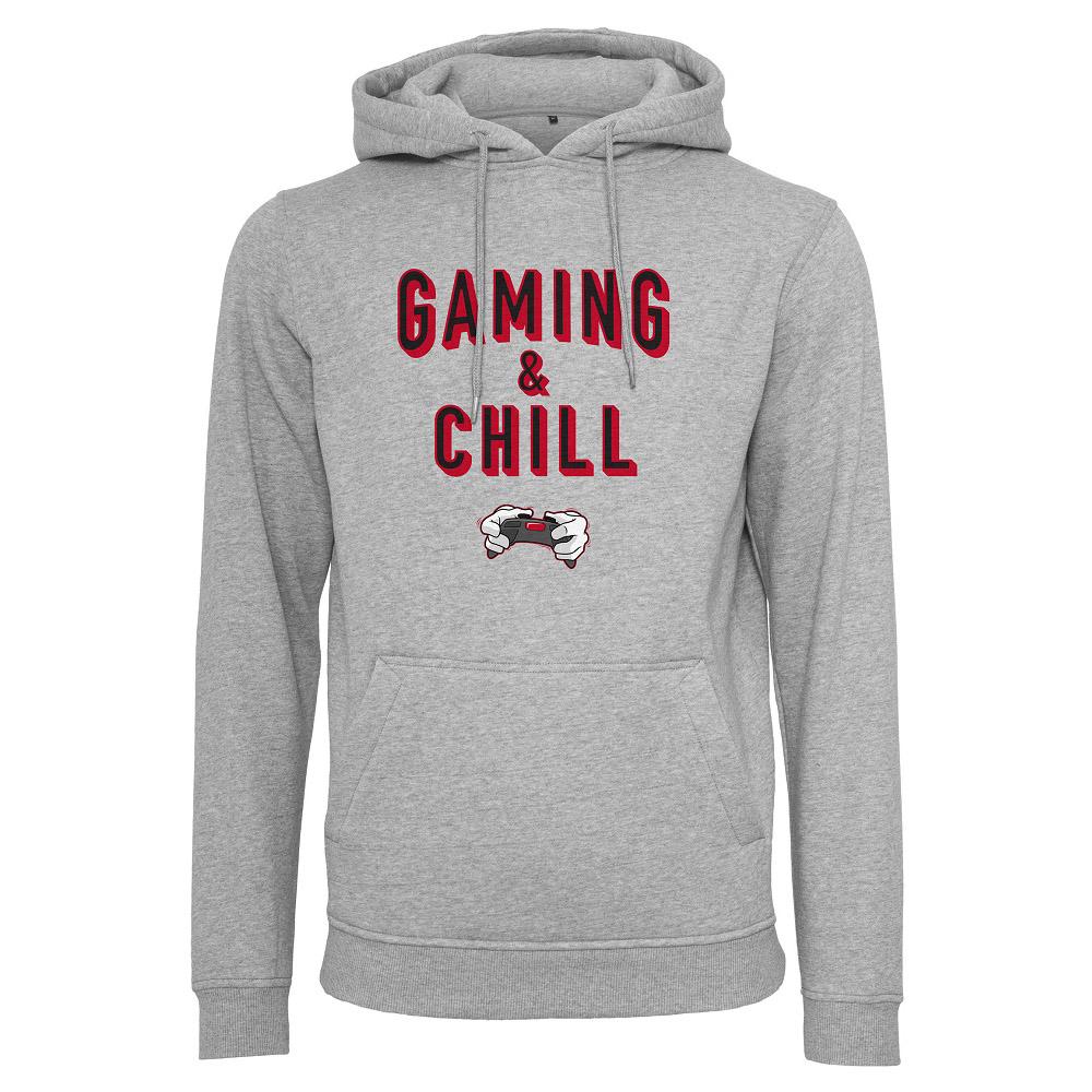 Hoodtröja Gaming & Chill   HerrXLGrå Grå