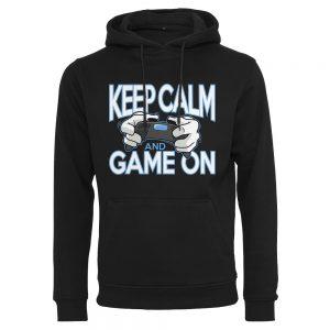 Svart Hoodtröja Gaming Keep Calm and Game On