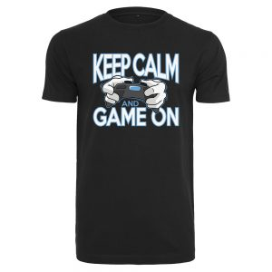 Svart T-shirt Gaming Keep Calm and Game On
