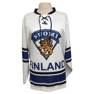 Vit/Blå Suomi Finland Hockeytröja Deluxe