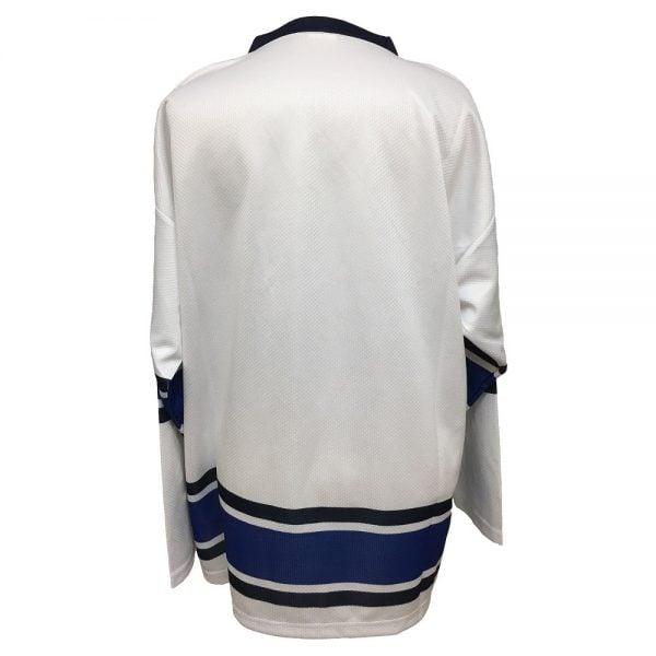 Vit/Blå Suomi Finland Hockeytröja Deluxe Baksida