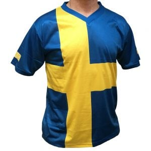 Blå/Gul Sverigetröja Svensk Flagga Funktion