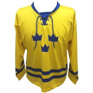 Gul/Blå Tre Kronor Sverige Hockeytröja Deluxe