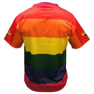 Regnbågströja Funktions T-shirt Regnbåge Pride Baksida
