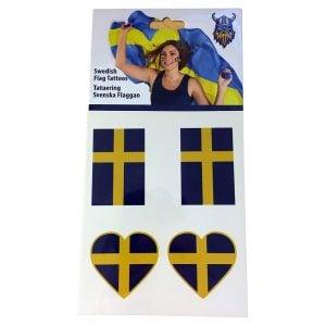 Blå/Gul Sverigetatuering Svenska Flaggan