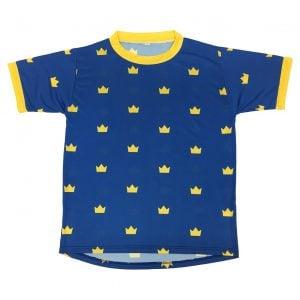Blå/Gul Funktions T-shirt Småkronor