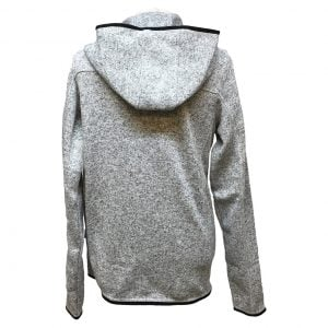 Gråmelerad Hoodjacka Fleece Top Swede Baksida