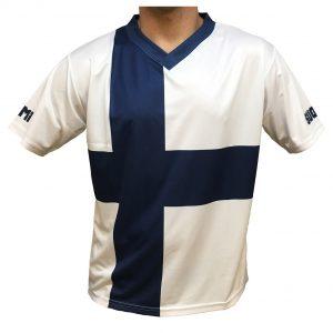 Blå/Vit Finlandströja Finsk Flagga Funktion